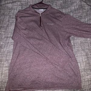 Men's Columbia 1/4 Zip Maroon
